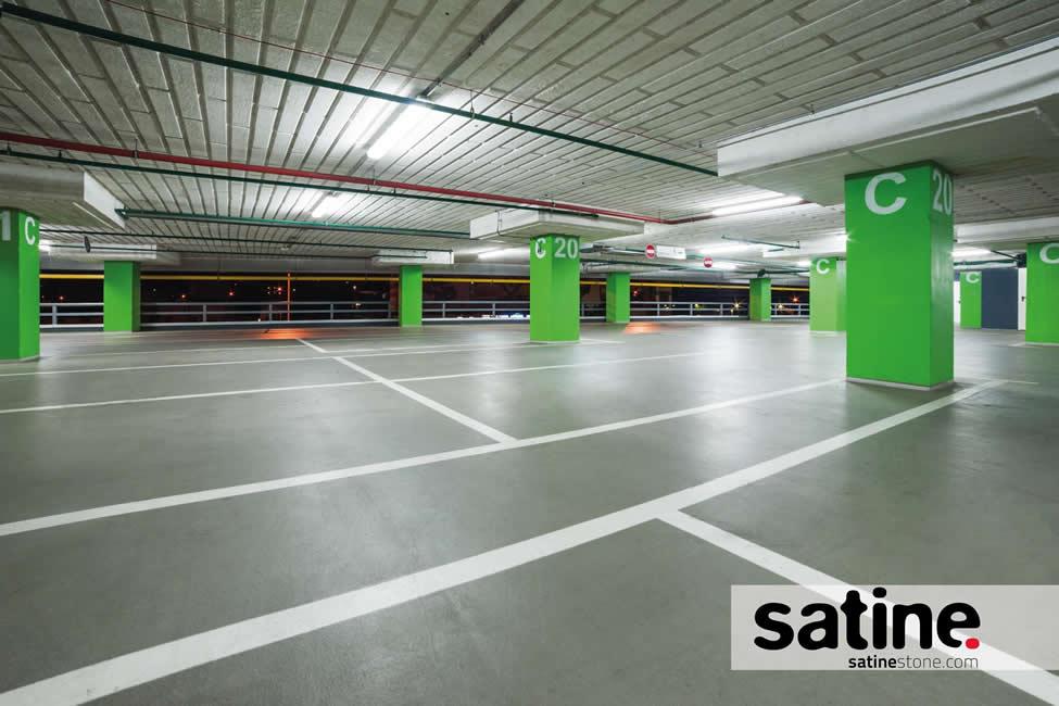 Suelos para garajes enlucido decorativo de suelo para - Pintura suelo parking ...